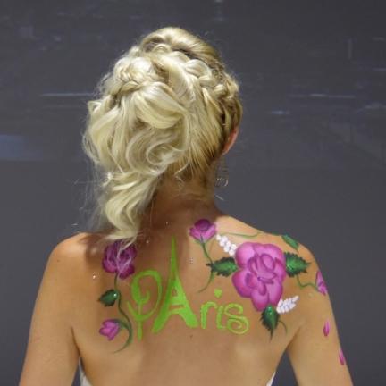 """Body painting Spectacle de Danse thème """"Paris"""""""
