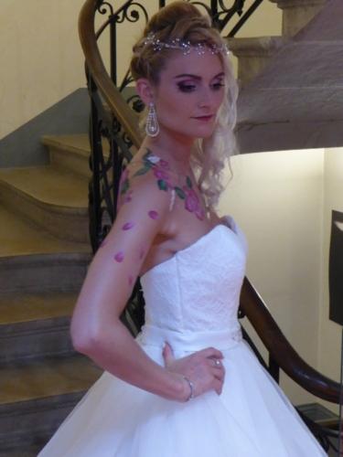"""Maquillage et Body painting Spectacle de Danse thème """"Paris"""""""