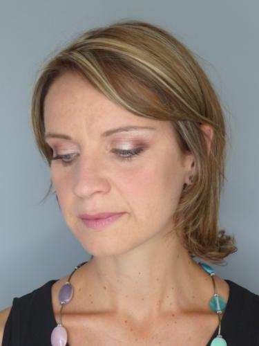 Virginie (après) essai maquillage mariée